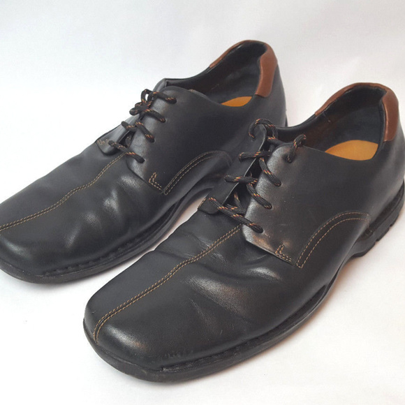 Cole Haan Black With Brown Lace Up Shoes Men's Size 11M 161 C04073